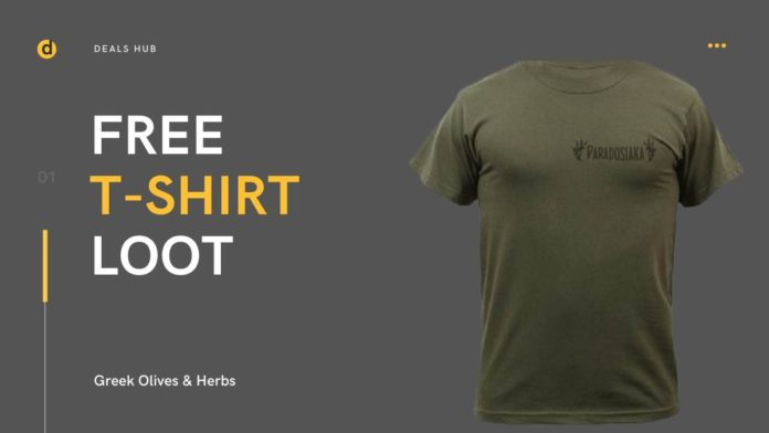 Free T Shirt From Greek Olives and Herbs, Free Sample, Free Sample in India, Get Free T shirt